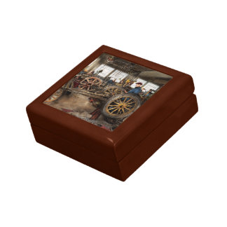 Car - Garage - Blue collar work 1923 Small Square Gift Box