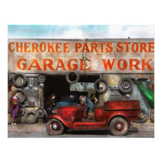 Car - Garage - Cherokee Parts Store - 1936 21.5 Cm X 28 Cm Flyer