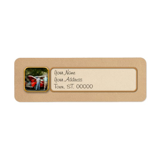 Car - Guys and cars Return Address Label
