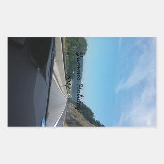 Car Holiday Mountains Europe Austria Photography Rectangular Sticker
