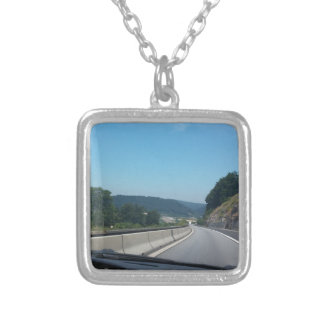 Car Holiday Mountains Europe Austria Photography Silver Plated Necklace