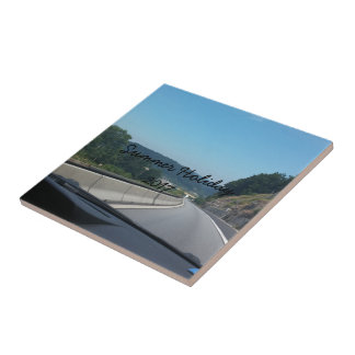 Car Holiday Mountains Europe Austria Photography Small Square Tile