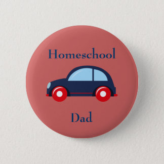 Car Homeschool Dad 6 Cm Round Badge