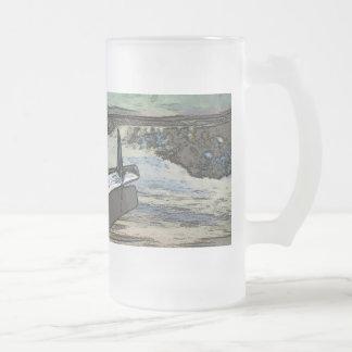 Car hood as art frosted glass mug
