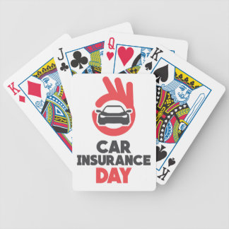 Car Insurance Day - Appreciation Day Bicycle Playing Cards