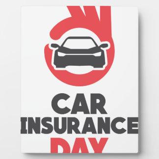 Car Insurance Day - Appreciation Day Plaque