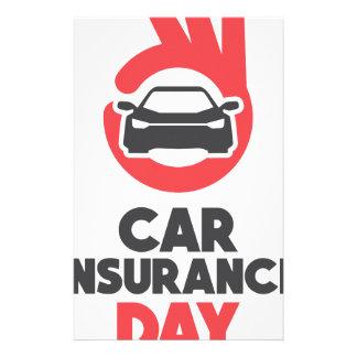 Car Insurance Day - Appreciation Day Stationery