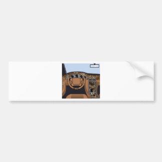 Car interior Wood Trim Vector Bumper Sticker
