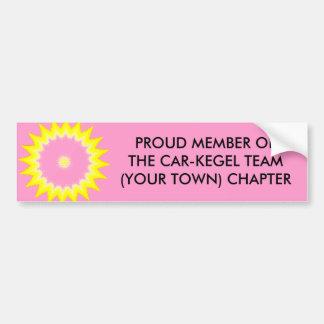 CAR-KEGEL TEAM MEMBER - bumper sticker Car Bumper Sticker