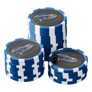 Car lighting poker chips