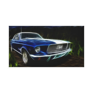 Car lightning canvas print