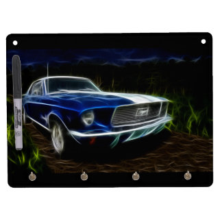 Car lightning dry erase board with key ring holder