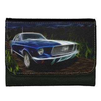 Car lightning leather wallet for women