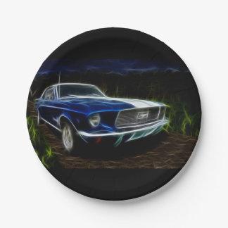 Car lightning paper plate