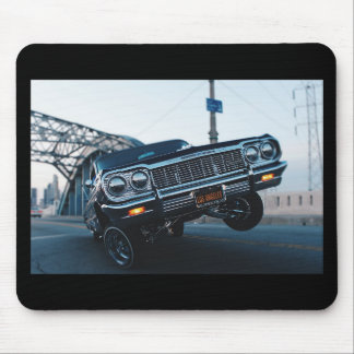 Car Low Rider Vintage Oldschool Automotive Driving Mouse Pad