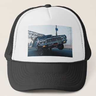 Car Low Rider Vintage Oldschool Automotive Driving Trucker Hat