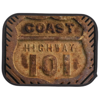Car Mat of Coast hiway 101 design
