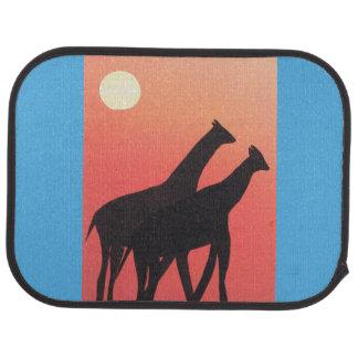Car Mat with Giraffe Design