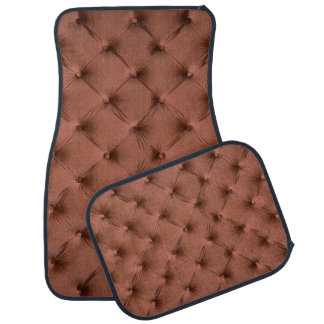 Car Mats Full Set print with brown capitone Car Mat