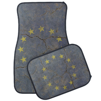 Car Mats Full Set print with grange flag of EU Car Mat