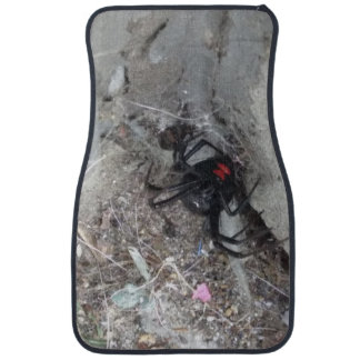 Car mats (set of 2) with Black Widow Spider