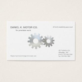 Car Mechanic Gears Up Business Card