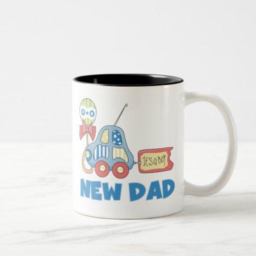 Car New Dad It's a Boy Coffee Mugs