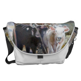 Car of cows/Cow drawn wagon Commuter Bag