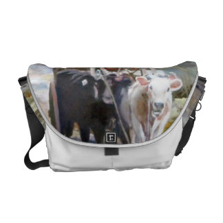 Car of cows/Cow drawn wagon Courier Bag