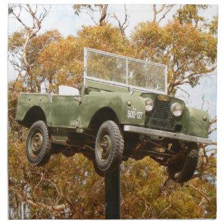 Car on a pole, Keith, Australia Napkin
