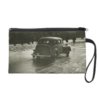 Car on the Road Wristlet Purses