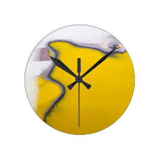 Car Paint Peeling Art Round Clock