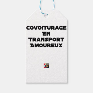 CAR-POOLING IN AMOROUS TRANSPORT - Word games Gift Tags