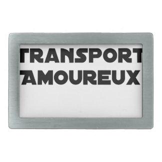 CAR-POOLING IN AMOROUS TRANSPORT - Word games Rectangular Belt Buckles