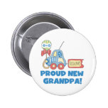 Car Proud New Grandpa It's a Boy Pinback Buttons