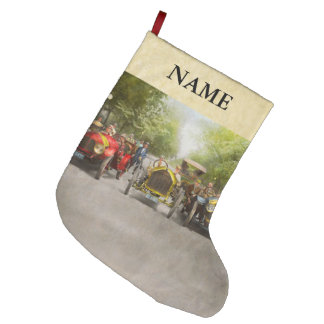 Car - Race - Hold on to your hats 1915 Large Christmas Stocking