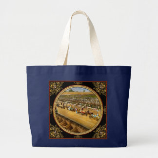 Car Race - Life in the fast lane 1925 Large Tote Bag