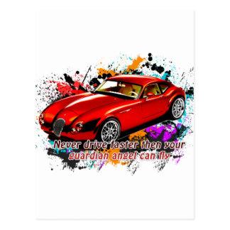 Car Race Post Cards