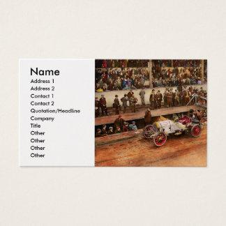 Car Race - Racing to get gas 1908 Business Card