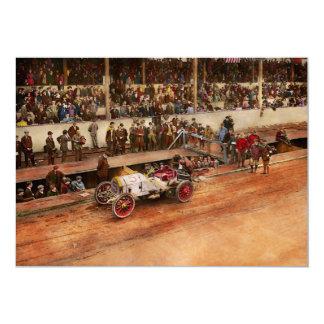 Car Race - Racing to get gas 1908 Card