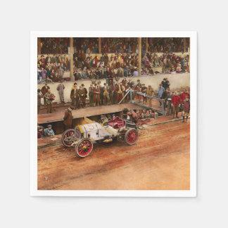 Car Race - Racing to get gas 1908 Disposable Serviette