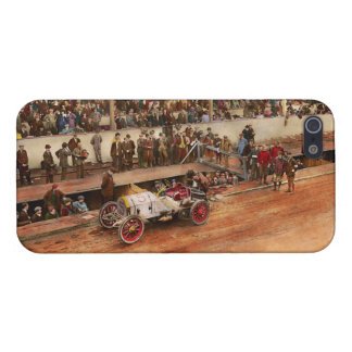 Car Race - Racing to get gas 1908 iPhone 5 Cover