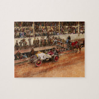 Car Race - Racing to get gas 1908 Jigsaw Puzzle