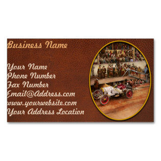 Car Race - Racing to get gas 1908 Magnetic Business Card