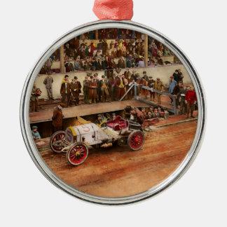 Car Race - Racing to get gas 1908 Metal Ornament