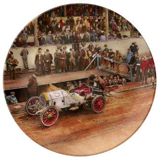 Car Race - Racing to get gas 1908 Plate