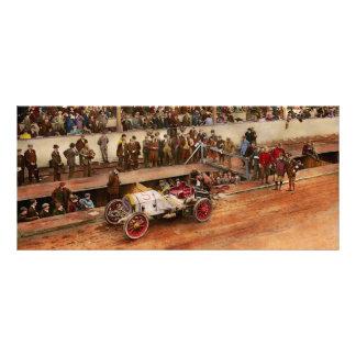 Car Race - Racing to get gas 1908 Rack Card