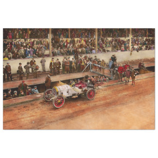 Car Race - Racing to get gas 1908 Tissue Paper