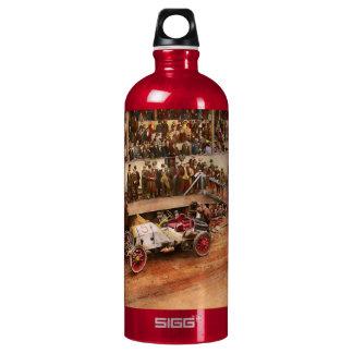 Car Race - Racing to get gas 1908 Water Bottle