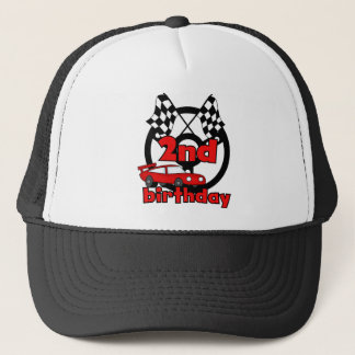 Car Racing 2nd Birthday Tshirts and Gifts Trucker Hat